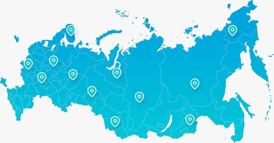 Работаем с Организациями<br />и Физическими лицами из любой точки России